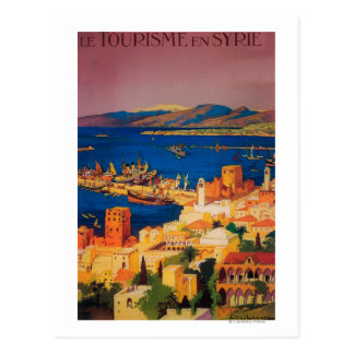 French Travel Poster Touring in Syria Postcard