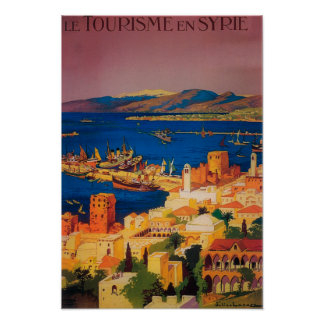 French Travel Poster, Touring in Syria Poster