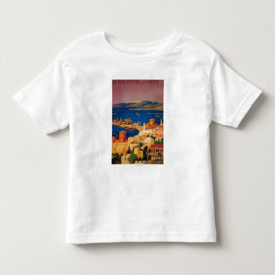 French Travel Poster, Touring in Syria Toddler T-shirt
