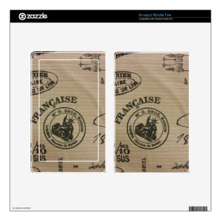 French Travel Stamps Kindle Fire Decals