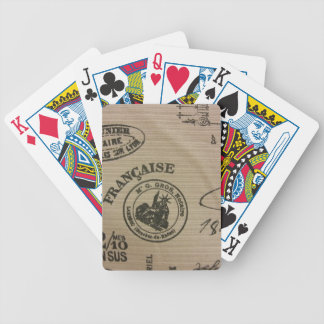 French Travel Stamps Card Decks