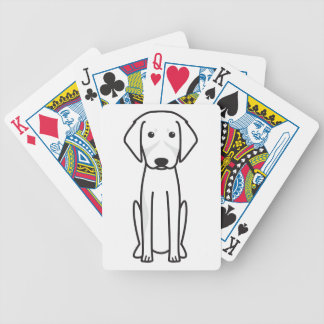 French Tricolor Hound Dog Cartoon Bicycle Poker Cards