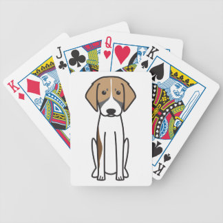 French Tricolor Hound Dog Cartoon Deck Of Cards