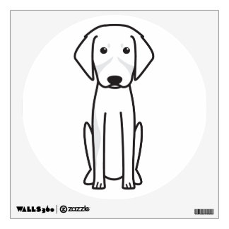 French Tricolor Hound Dog Cartoon Wall Decal
