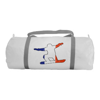 French Tricolor SNOWBOARDER (blk) Gym Bag