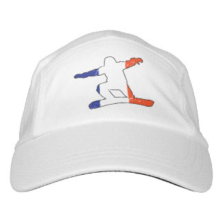 French Tricolor SNOWBOARDER (blk) Headsweats Hat
