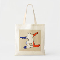 French Tricolor SNOWBOARDER (blk) Tote Bag
