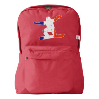 French Tricolor SNOWBOARDER (wht) Backpack