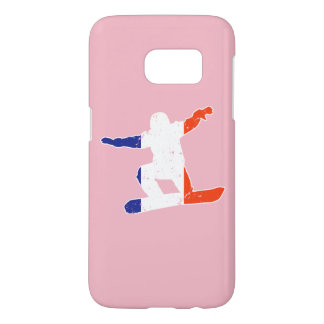 French Tricolor SNOWBOARDER (wht) Samsung Galaxy S7 Case