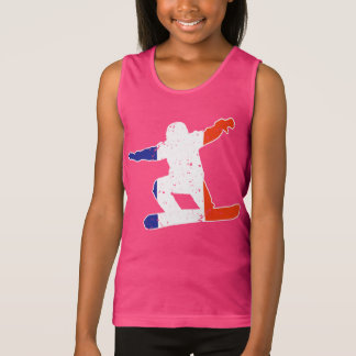 French Tricolor SNOWBOARDER (wht) Tank Top