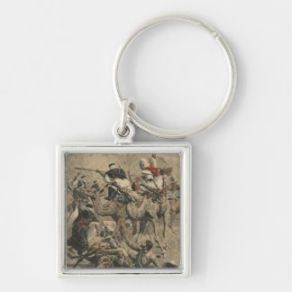 French troops in Sahara Silver-Colored Square Keychain