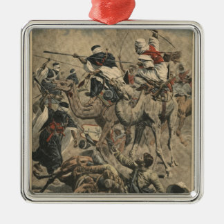 French troops in Sahara Metal Ornament