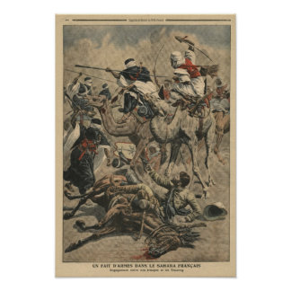 French troops in Sahara Poster