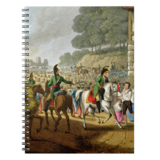 French Troops Retreating Through and Plundering a Journal