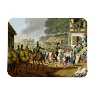French Troops Retreating Through and Plundering a Rectangular Photo Magnet