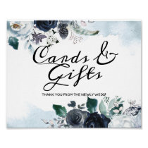 French Twilight Boho Wedding Cards and Gifts Sign