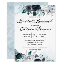 French Twilight Floral Boho Bridal Shower Brunch Invitation