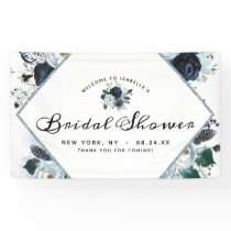 French Twilight Floral Boho Bridal Shower Welcome Banner