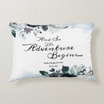 French Twilight Floral Boho Wedding Bridal Shower Accent Pillow