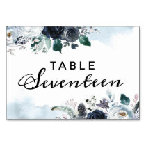 French Twilight Floral Boho Wedding Guest Seating Table Number
