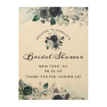 French Twilight Floral Bridal Shower Welcome Sign