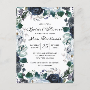 60 off french bridal shower invitations shop now to save zazzle french twilight floral future mrs bridal shower invitation postcard filmwisefo
