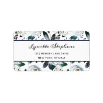 French Twilight Floral Watercolor Vintage Bohemian Label