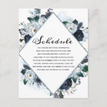 French Twilight Floral Watercolor Vintage Schedule Enclosure Card