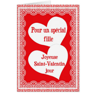 French Valentine's Day Card For Daughter