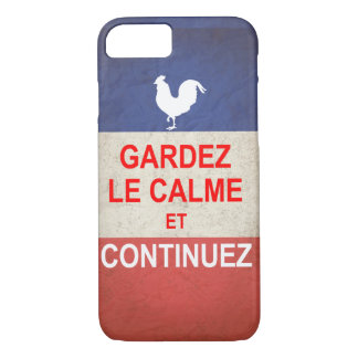 French version of Keep Calm and Carry On. iPhone 7 Case