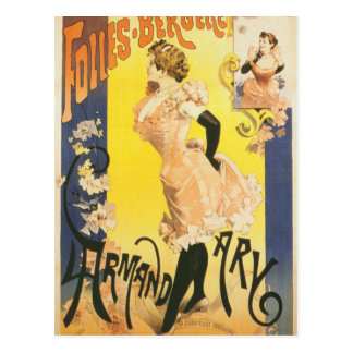 French victorian French cancan Art Nouveau cabaret Postcard