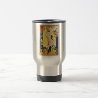 French victorian French cancan Art Nouveau cabaret Travel Mug