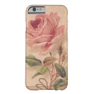 French Victorian Pink Rose Barely There iPhone 6 Case