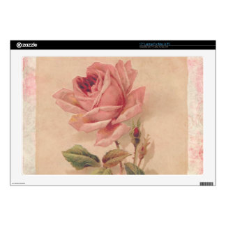 French Victorian Pink Rose Decals For Laptops