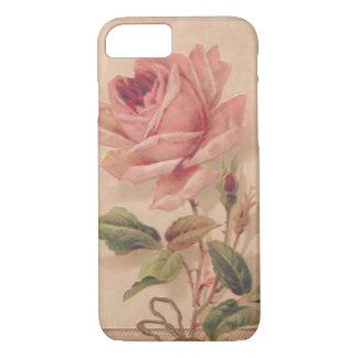French Victorian Pink Rose iPhone 8/7 Case