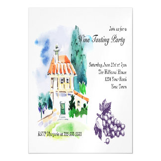 French Villa Wine Tasting Party Magnetic Card
