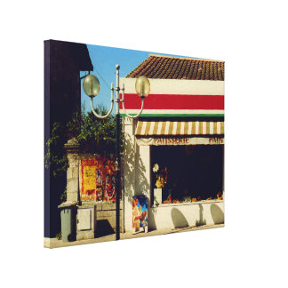French Village Bakery Gallery Wrapped Canvas