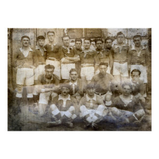 French village football team 1900 poster