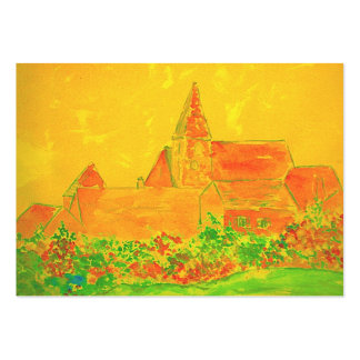 french village large business card