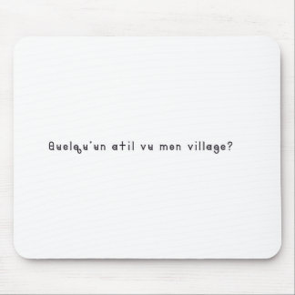 French-Village Mouse Pad