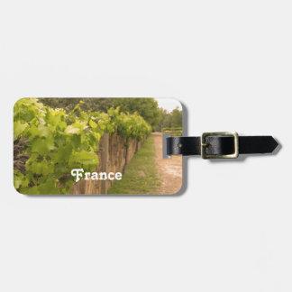 French Vineyard Travel Bag Tag