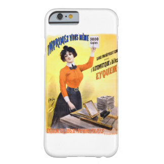 French Vintage Advertising Poster Restored Barely There iPhone 6 Case