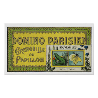 French vintage Art Nouveau game toy Poster