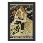 French Vintage Art Nouveau Greeting Card