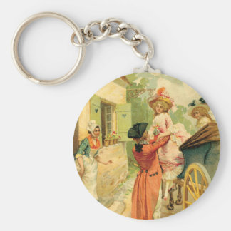 French Vintage Carriage 18th Century Keychain