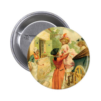 French Vintage Carriage 18th Century Pinback Button