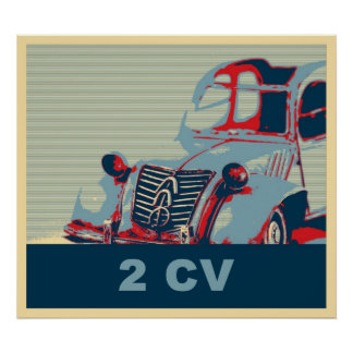 French vintage classic car, pop art style posters