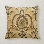 French Vintage Classic Damask Floral Parchment Pillows