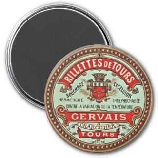 French Vintage Culinary Label Fridge Magnet Magnet
