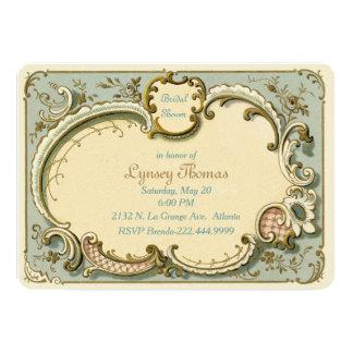 French Vintage Custom Bridal Shower Card